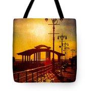 Sunset On The Boardwalk Tote Bag