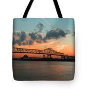 Sunset On The Mississippi  Tote Bag