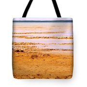 Sunset On The Mud Flats Tote Bag