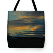 Sunset On The Old Canadian Highway Tote Bag