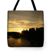 Sunset On The Rogue River Tote Bag