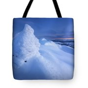 Sunset On The Summit Toviktinden Tote Bag by Arild Heitmann