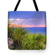 Sunset On Wellfleet Dunes Tote Bag