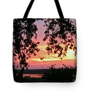 Sunset Over Canyon Lake Tote Bag