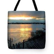 Sunset Over Cedar Creek Tote Bag
