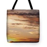 Sunset Over Grain Bins Tote Bag