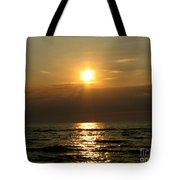 Sunset Over Lake Erie 3 Tote Bag