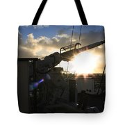 Sunset Over Long Beach Tote Bag