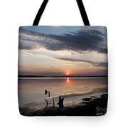 Sunset Over Lovewell Lake Tote Bag