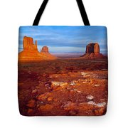 Sunset Over Monument Valley Tote Bag