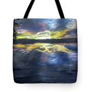 Sunset Over Mystic Lakes Tote Bag