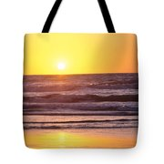 Sunset Over Ocean Tote Bag