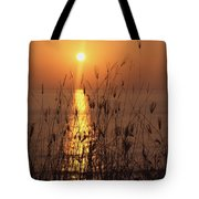 Sunset Over Pacific Tote Bag