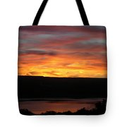 Sunset Over Seneca Lake Tote Bag