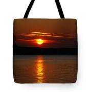 Sunset Over Silver Lake Sand Dunes Tote Bag