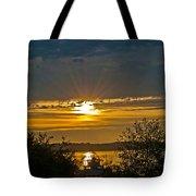 Sunset Over Steilacoom Bay Tote Bag