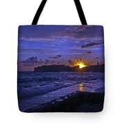 Sunset Over The Adriatic Tote Bag