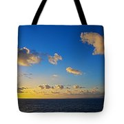 Sunset Over The Caribbean Sea Tote Bag