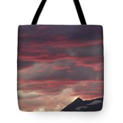 Sunset Over The Colorado Rocky Mountain Continental Divide Tote Bag