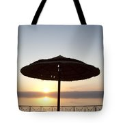 Sunset Over The Dead Sea Tote Bag