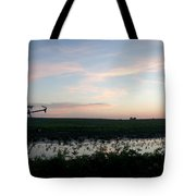 Sunset Over The Fields Tote Bag