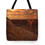 Sunset Over The Rim Of Canyon De Tote Bag