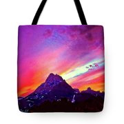 Sunset Over The Sierras Tote Bag