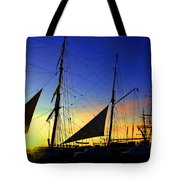 Sunset Over The Star Of India Tote Bag