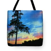 Sunset Over The Suwanee Mosaic Tote Bag