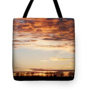 Sunset Over The Tree Line Tote Bag