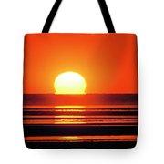 Sunset Over Tidal Flats Tote Bag