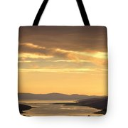 Sunset Over Water, Argyll And Bute Tote Bag