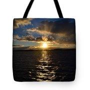 Sunset Over Winnepesaukee Tote Bag