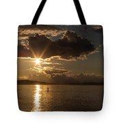 Sunset Paddleboarder Tote Bag