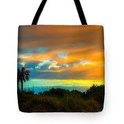 Sunset Palm Folly Beach  Tote Bag