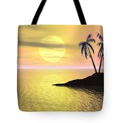 Sunset Palm Trees Tote Bag