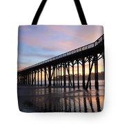 Sunset Pier San Simeon California 2 Tote Bag