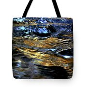 Sunset Reflected On Wave Tote Bag