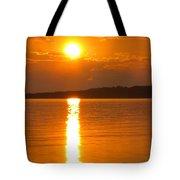 sunset Samsoe island Denmark Tote Bag
