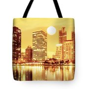Sunset Scenes Of City Tote Bag
