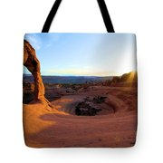 Sunset Starburst Tote Bag