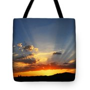 Sunset Sun Rays Tote Bag