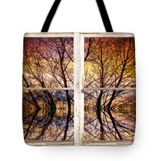 Sunset Tree Silhouette Colorful Abstract Picture Window View Tote Bag by James BO  Insogna