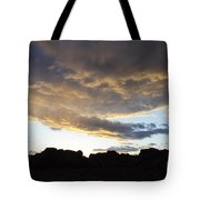 Sunset Valley Of Fire Tote Bag