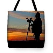 Sunset Videographer Tote Bag