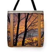 Sunset Window View Tote Bag