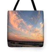 Sunset Wispy Sky Tote Bag