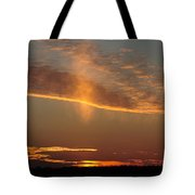 Sunset With Mist Tote Bag