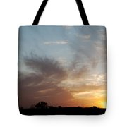 Sunset With Some Cows Tote Bag