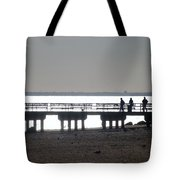 Sunsets On Coney Island Pier Tote Bag